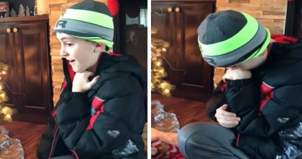 Boy Looks Under The Christmas Tree And Discovers His Newborn Baby Sister